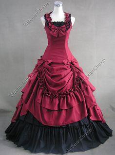 southern belle civil war dress.