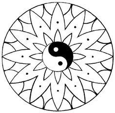 ☯•ϓᎥᑎ•ϓᗋᑎ૭•☯.。.☯・゚  ☯~Yin y Yang~☯  ԑ̮̑♦̮̑ɜ~Mandala para Colorear~ԑ̮̑♦̮̑ɜ