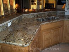 My kitchen/family room layout Hickory Kitchen Cabinets, Granite Kitchen, Granite Countertops, Kitchen Island, Kitchen Family Rooms, Room Interior Design, Cool Kitchens, Kitchen Remodel, New Homes