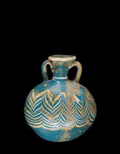 Origins of Glassmaking: Lentoid Flask (flask shaped like lens), 1400-1350 BC | Corning Museum of Glass