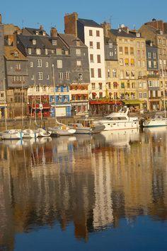 Honfleur, Normandy, France - boats & restaurants