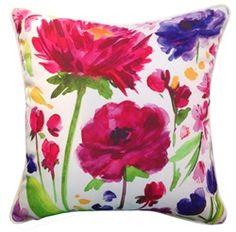 Mrs Darcy Fuchsia Garden Cushion...adorable pillows! (from the adaanddarcy.com website)