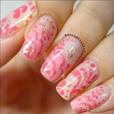 Traditional Painting Pink Rose Nails : http://instagram.com/p/ycQqHax3ZJ/?modal=true