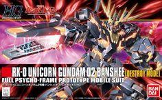 Bandai 1/144 HGUC #134 Unicorn Gundam 02 Banshee HG (Destroy Mode) Model Kit