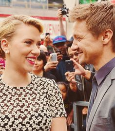 Scarlett and Jeremy. Love them. #secretlymarried