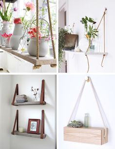 vasos pendurados com corda - Pesquisa Google Fontes Script, Shelves, Bedroom, Download, Design, Diy, House, Cinema, Book
