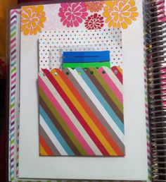 Full size laminated dashboard with pockets for my Erin Condren Life Planner.