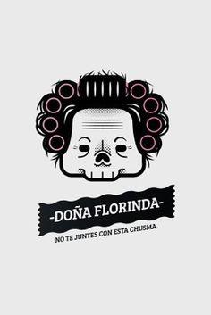 Catrinas famosas por el creativo y divertido diseñador desde Monterrey, México: Oscar Moctezuma. Art Deco Illustration, Graphic Illustration, Cartoon Drawings, Cartoon Art, Skull Painting, Mexican Designs, Chicano Art, Old Cartoons, Mexican Art
