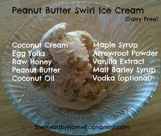 peanut butter swirl ice cream (dairy free)