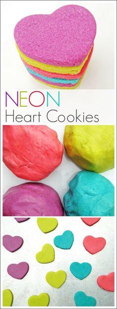 Neon Heart Cookie Recipe
