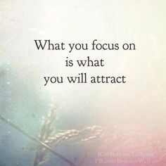 """Is your """"self talk"""" attracting what you want in your life or is it attracting more what what you don't want?!   Do you Focus on how out of shape you are? How you lack confidence?  How your relationship is failing?   What you constantly dwell on is what you will attract more of."""