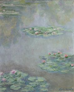 'Nymphéas' c. 1908  Claude Monet. Oil on canvas: 39⅜ by 32 in. (100 by 81.3 cm) Sotheby's 2015 sale $33,850,000.