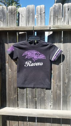 721eca6bc156 custom Baltimore Ravens football cute girls toddler infant glitter tee shirt  recreational school teams leauges