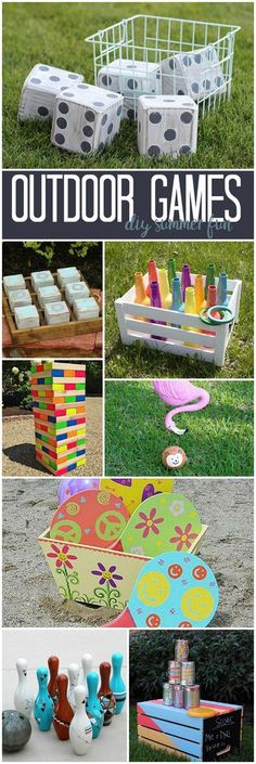 DIY Outdoor Games from the DecoArt Project Gallery #decoartprojects