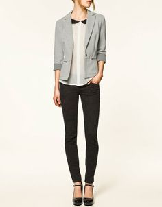 VELOUR BLAZER - Last sizes - TRF - ZARA