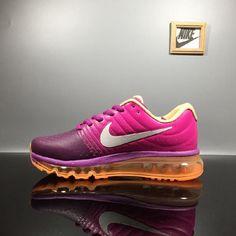 Shop This Nike Air Max 2017 Leather Purple Peach Sports Shoes On Sale Cute Sneakers, Air Max Sneakers, Sneakers Nike, Sports Shoes, Basketball Shoes, Cheap Nike Air Max, Cheap Air, Running Shoes On Sale, Air Max Women