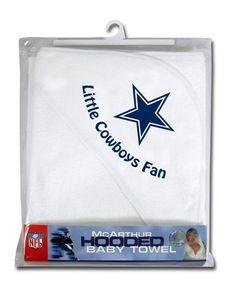 9170bb503 Dallas Cowboys Hooded Baby Towel (White)  14.95