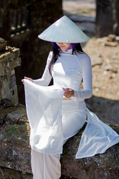 "Saatchi Art Artist Trần Quân; Photography, ""ao dai Hue"" #art"
