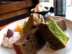 Chiffon Cake ( (Matcha & Roasted Green Tea) シフォンケーキ (抹茶, ほうじ茶)    Nakamura Tokichi (Main Store) 中村藤吉本店  Kyoto