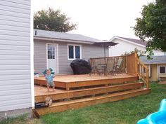 Backyard decks and patios are the basic building blocks of backyard design. Description from roswellinn.com. I searched for this on bing.com/images