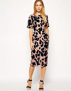 ASOS Wiggle Dress in Animal Print
