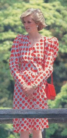 Japan 1986 (No necklace like in the other Japan photos. Plus red purse Japan is white)
