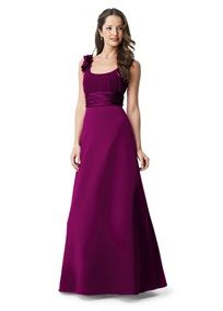 Love this color for a Fall wedding!  <3  The style of dress is gorgeous, too!