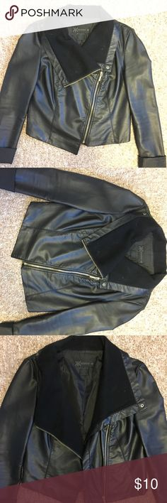 Pleather Jacket from the Kardashian Kollection either zip it or keep this jacket open for a great statement piece! Kardashian Kollection Jackets & Coats