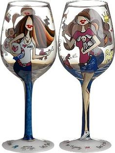 Bottom's Up 15-Ounce Pawprints on My Heart Handpainted Wine Glass ** Click image to review more details.