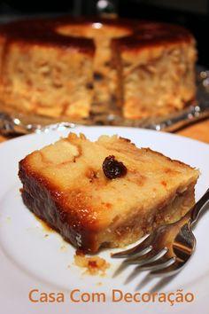 Receita Pudim de Pão (sem leite e ovos)