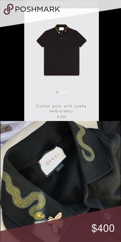 8886b02841e5 Gucci Men's Polo shirt Gucci polo shirt with snake and butterfly polo shirt.  I get compliments all the time on this shirt Gucci Shirts Polos
