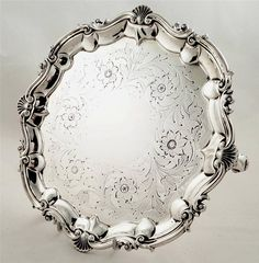 Lovely antique William IV silver salver London 1836