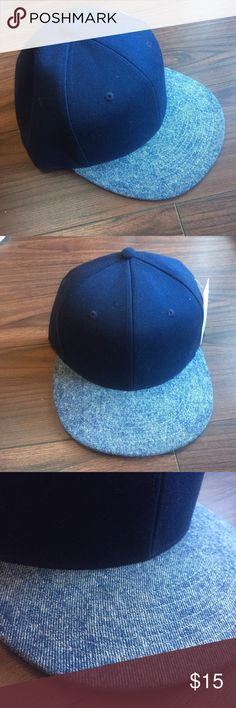 Blue and Denim Baseball Hat Color Blocked Navy and Denim Baseball Cap by Oaks. 💯 Cotton. NOT PacSun, tagged for visibility! Super comfortable and ready to hit the skate park or beach! ✌️️✨🎁 Free Gift with any bundle! PacSun Accessories Hats