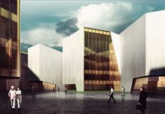 """RTA-Office's Mountainous """"Cultural Container"""" Wins First Prize"""