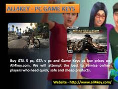 Buy GTA 5 pc, GTA v pc and Game Keys at low prices on All4key.com. We will attempt the best to service online players who need quick, safe and cheap products. Read More - http://www.all4key.com/