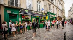 In Paris's old Jewish quarter, you'll find falafel, cream puffs, and the crepes that dreams are made of