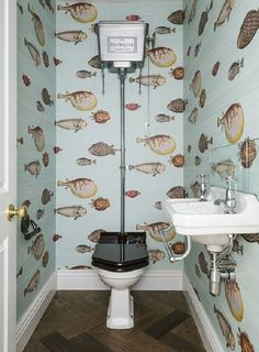 Fishbowl: A Cloakroom Design By Grand Design London Featuring Cole And  Sonu0027s Fornasetti Wallpaper