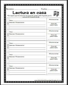Free download of weekly homework packet in Spanish