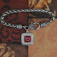 South Carolina Gamecocks Square Clasp Bracelet - Charming Collectables