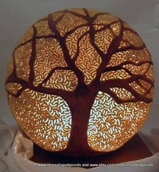 Gourd Luminaries - Peace in your Heart with Chrysalis God Gourds