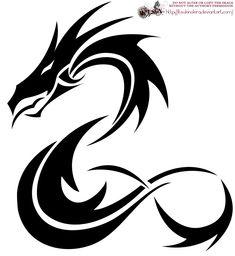 A Tribal Dragon Tattoo Design