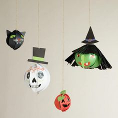 One of my favorite discoveries at WorldMarket.com: Meri Meri Eek! Hanging Head Halloween D�cor, 4-Pack
