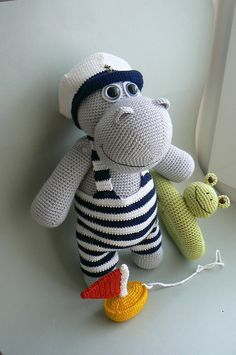 Ravelry: Hippo who loves to swim pattern by Katka Reznickova