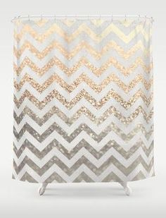 Gold and silver glitter shower curtain!!! ammaaazzzing