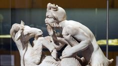 Sculpture of ancient Rome: The shock of the old. Roman city of Herculaneum, destroyed at the same time as Pompeii, sculpture of the wild god Pan making love to a goat, unearthed 1761. www.eranet.com via Google images
