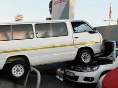 High flyer: taxi crash-lands on car Taxi Driver, Journalism, Car, Journaling, Automobile, Autos, Cars