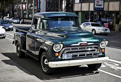 57 Chevy pickup truck ~ see how it shines!