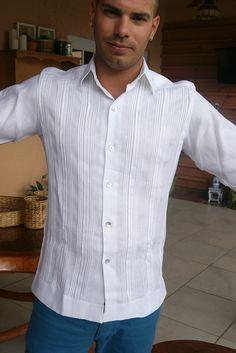 fc754df8950 Guayabera linen wedding shirt Wedding Shirts