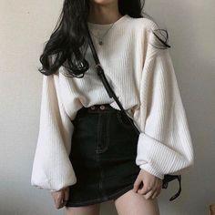 Korean Fashion Winter, Korean Fashion Dress, Korean Fashion Casual, Korean Outfits, Korean Clothes, Cute Skirt Outfits, Girl Outfits, Fashion Outfits, Fashion Trends