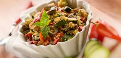 Quinoa with Green Onions and Mushrooms | W Network